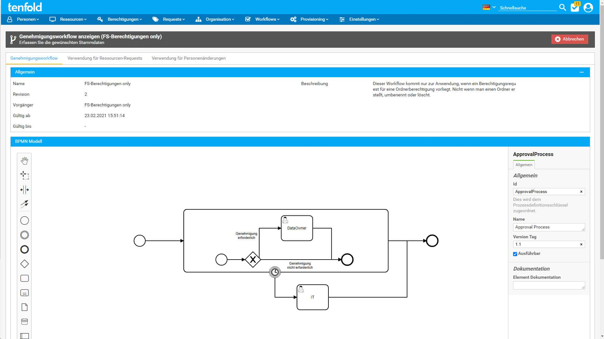 permSECURE - tenfold Workflows